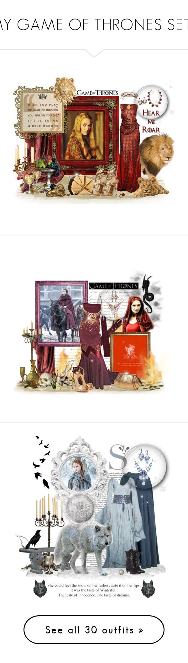 """""""MY GAME OF THRONES SETS"""" by leanne-mcclean ❤ liked on Polyvore featuring BY SOPHIE, KING, Rauwolf, Giuseppe Zanotti, Kenneth Jay Lane, Once Upon a Time, Alaïa, Shaun Leane, ZAC Zac Posen and WALL"""