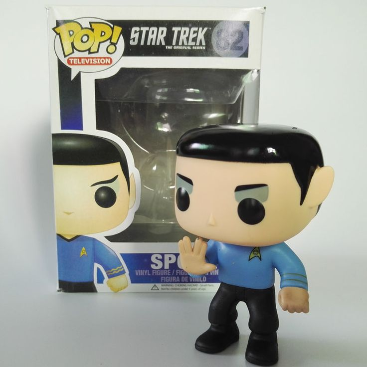 Funko POP Television  Star Trek Spock 82# Beyond PVC Action Figure Toys For Kids High quality Christmas Gift toys For Collection