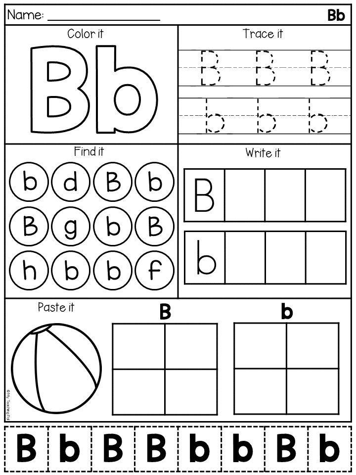 Alphabet Worksheets - Letter Work - Distance Learning Alphabet Worksheets  Preschool, Alphabet Worksheets Kindergarten, Letter Worksheets For Preschool