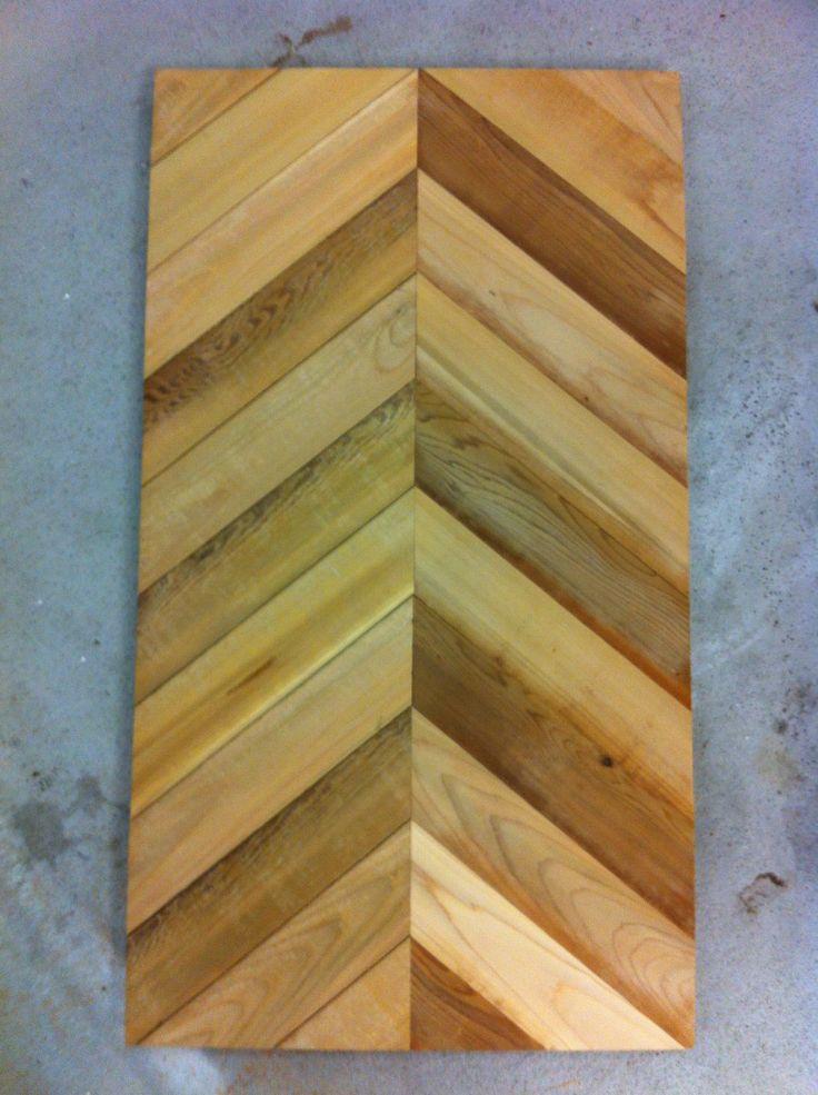 how to cut chevron wood