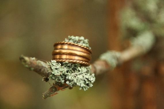 Finnish bronze ring vintage brand Kalevala Koru.