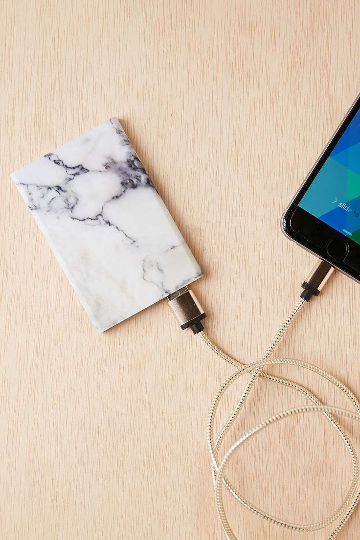 Slim Marble Portable Power Charger More