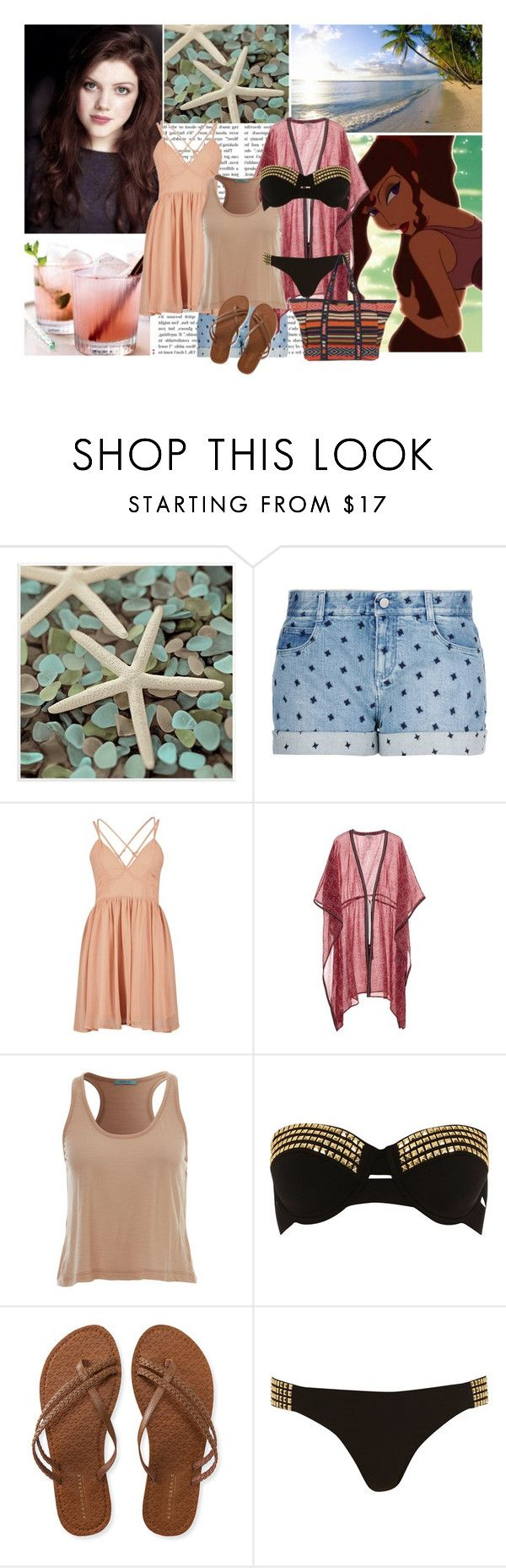 """""""The beach or the pool, it doesn't matter, you can still have some fun."""" by nika-love ❤ liked on Polyvore featuring Universal Lighting and Decor, STELLA McCARTNEY, Talitha, Pacha, Aéropostale, River Island, Billabong, women's clothing, women's fashion and women"""