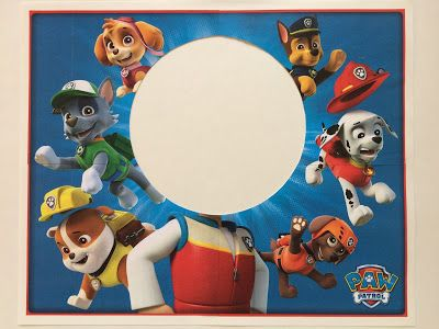 FREE PRINTABLE Photo Booth Prop - Paw Patrol Birthday Party