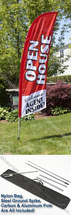 Open House Message Flag for Realtors
