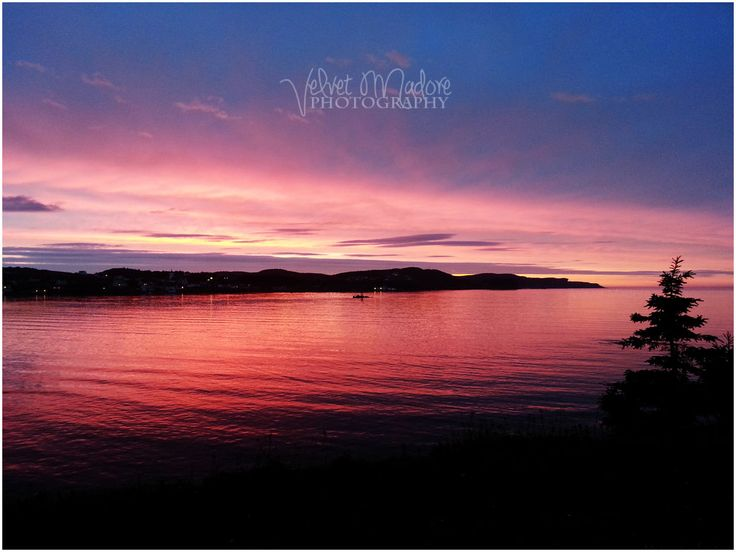 Sunset over Twillingate Harbour