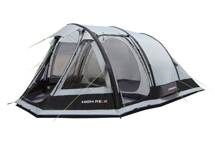 High Peak Aufblas-Zelt, 3 Personen, »Aeros 3«. Ein HIGH PEAK Aufblaszelt der Extraklasse! Das Aeros steht mit nur 3 Luftschläuchen perfekt - in 5 Minuten. Die hochwertigen, integrierten TPU Luftschläuche können mit bis zu 9 PSI aufgeblasen werden und stehen wie ein Haus. Die extra starken Gewebekanäle schützen die Luftschläuche zusätzlich. Der Gewebekanal hat einen Reißverschluss wodurch ein ei...