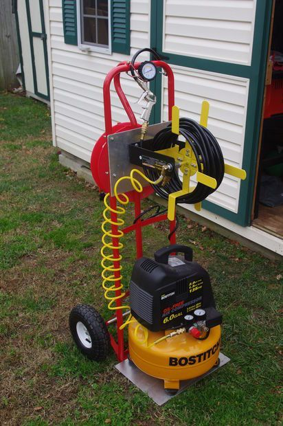 Picture of mobile compressor cart for under $50 #compressor #compresor #automotivo #automotive
