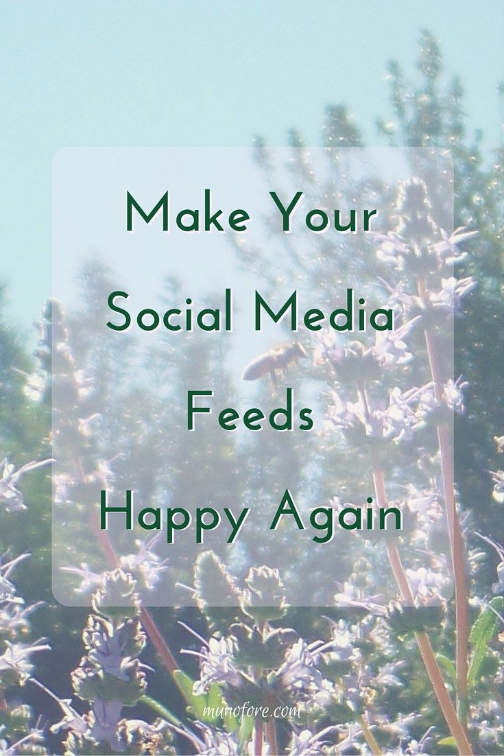 Use the power of social media algorithms to ensure you see what you want to see on your social media feeds. #happiness #socialmedia