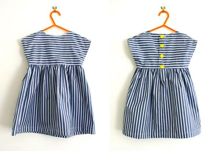 Striped tunic dress pattern / Girls dress pattern / Sewing pattern  https://madebytoya.wordpress.com/2015/06/29/simple-tunic-or-dress-pattern/