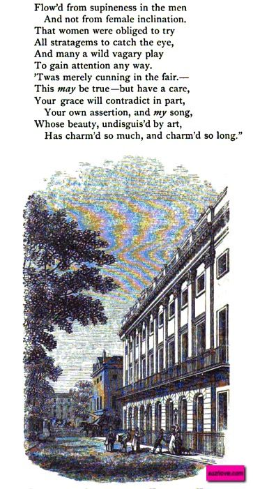 Burlington House and Uxbridge Gardens, London, UK.  From:  1870 Round About Piccadilly and Pall Mall.  Via Google Books (PD-150).    suzilove.com