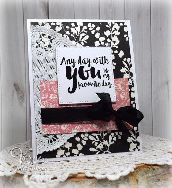 Handmade card by Julee Tilman using the Love From Me digital set from Verve. #vervestamps