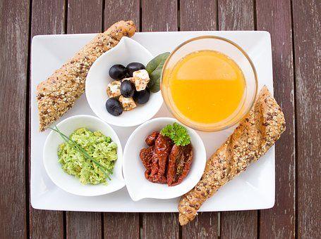 Завтрак, Здоровый, Апельсиновый Сок