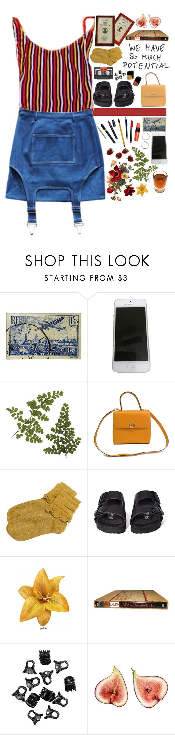 """""""#13 // Predictable"""" by needyavocado ❤ liked on Polyvore featuring Margarin Fingers, Soicher Marin, Apple, CÉLINE, Birkenstock, Garance Doré and H&M"""