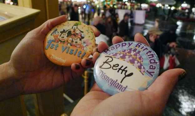 If it's your child's birthday or first time at Disneyland visit the Guest Relations office to get a special button. | 35 Insider Hacks For Taking Your Kids To Disneyland