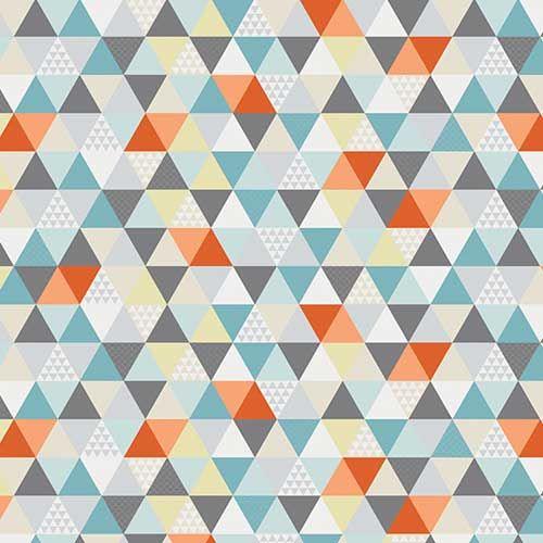 COULEURS - Papier peint scandinave multicolore Kaléidoscope Sophie Cordier