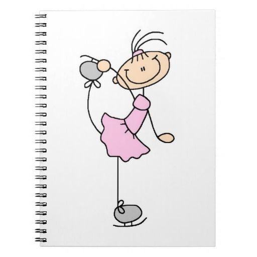 Pink Girl Stick Figure Ice Skater Spiral Note Books http://www.zazzle.com/pink_girl_stick_figure_ice_skater_notebook-130917580130725865?rf=238194283948490074&tc=pfz