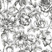 Rose pattern white — Stock vektor