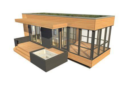 Micro-maison préfabriquée / contemporaine / en bois / de plain-pied SOLO 24 BUNKIE Sustain design studio