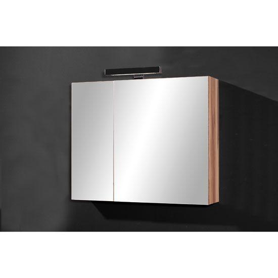 Marita Mirrored Baltimore Walnut Bathroom Cabinet 27495 Bathroomcabinet Furnitureinfashion