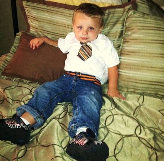 Infant or toddler Fathers Day Little Boy Tie by LittleMadamtutu, $24.99
