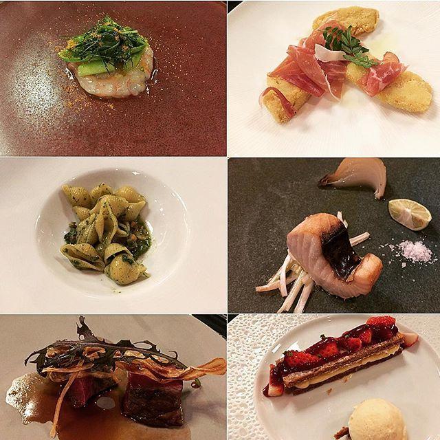 お食事@京都25.4.2017  #食事#夕食#パーティ#甘海老のカルパッチョ#筍のセモリナフリット#アワビとサザエのコンキエリ#鰆の燻製#国産牛サーロインのグリル#ミッレフォーリエ#筍#肉#美味しい#グルメ#コース#美味い#日本#京都#レストラン#dinner#meal#meat#beef#fish#pasta#delicious#gourmet#japan#kyoto#restaurant