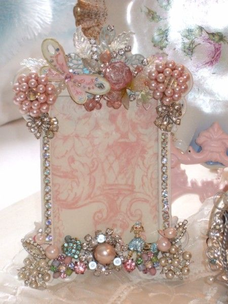 How Sweet, full of wonderful findings old and new to create a One of a Kind Jeweled picture frame for your cherished photos and bring back dear memories.