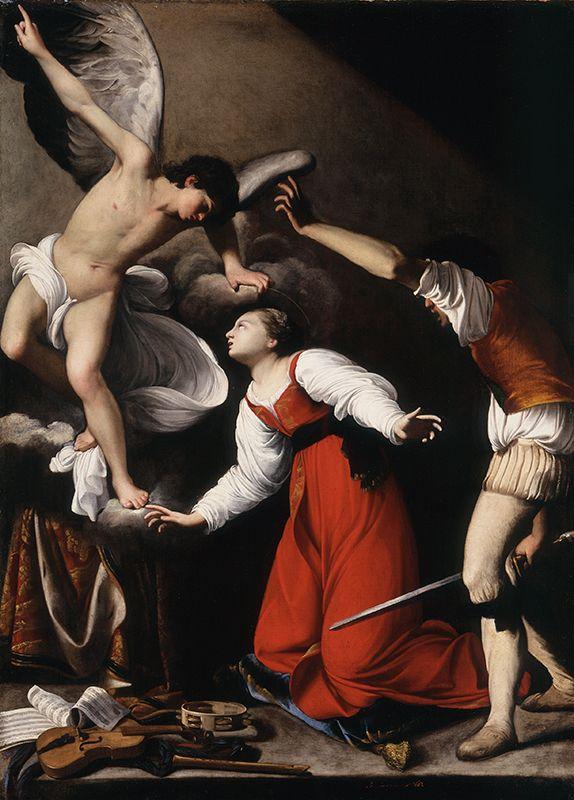 Carlo Saraceni. The Martyrdom of St. Cecilia, 1610. Oil on canvas, 53 1/2 x 38 3/4 in.(574×800)
