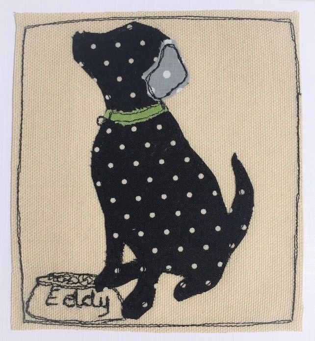 Custom order - Eddy the black labrador £4.50