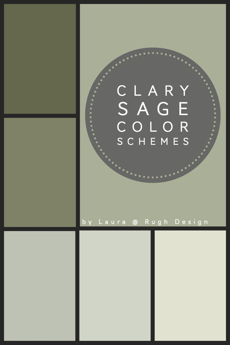Color Scheme For Clary Sage Sw 6178 Sage Green Paint Color Exterior Color Schemes Green Sage Color