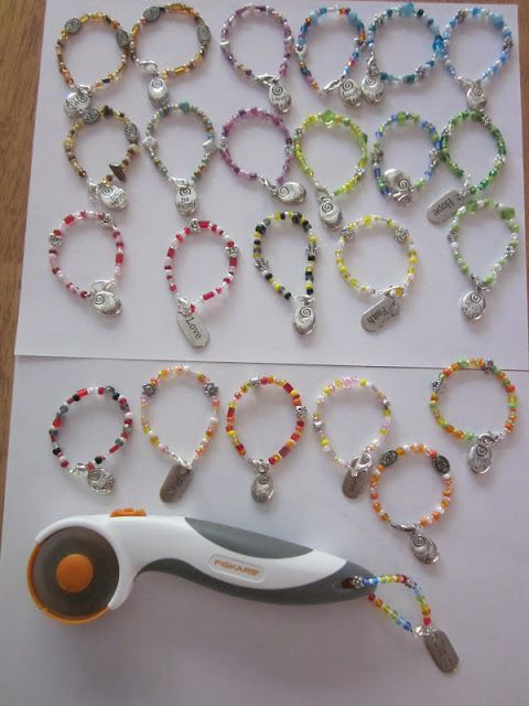 Identify your rotary cutter in your group classes! Jewelry for your rotary cutter!~ Zany Quilter ~ Scissor Fobs