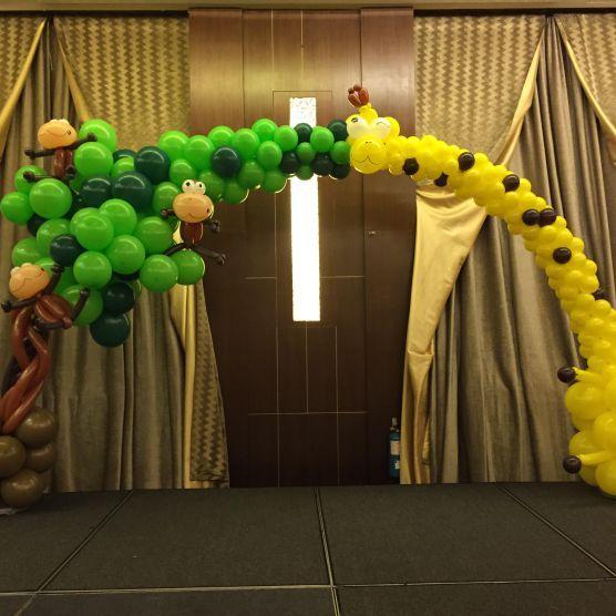 monkey balloon arch 43 best balloon arch decoration images on pinterest balloon arch