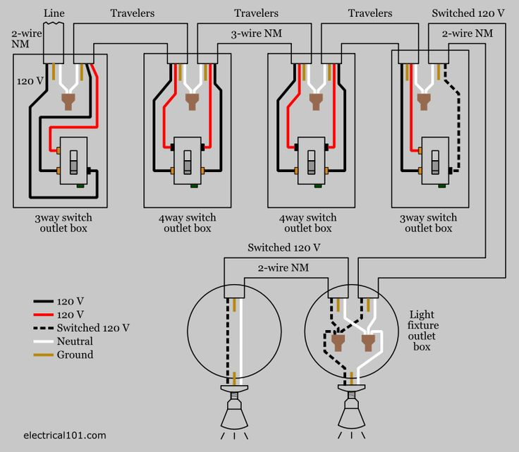 can lights three way wiring diagram
