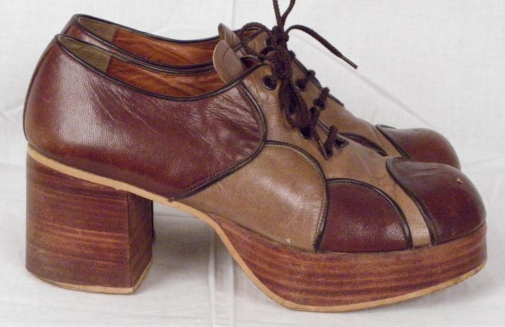 Vintage 70's Platform Disco Shoes for men. I do believe The Bee Gees wore these very stylish shoes whilst dancing on stage! Go Barry! Go Barry!