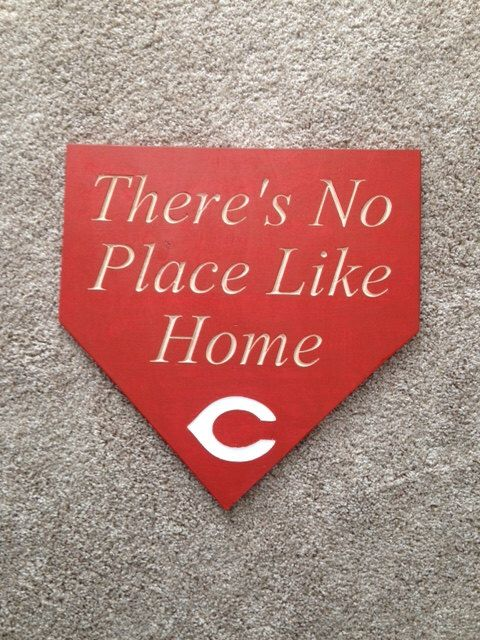 Home Plate Wood Sign . Baseball Sign . Customizable Carved Wood sign . There's no place like home. Baseball . MLB by 2Markers on Etsy https://www.etsy.com/listing/273887816/home-plate-wood-sign-baseball-sign