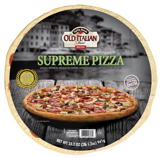 Supremely tasty Our Old Italian Brand Supreme Pizza from MaMa Rosa's