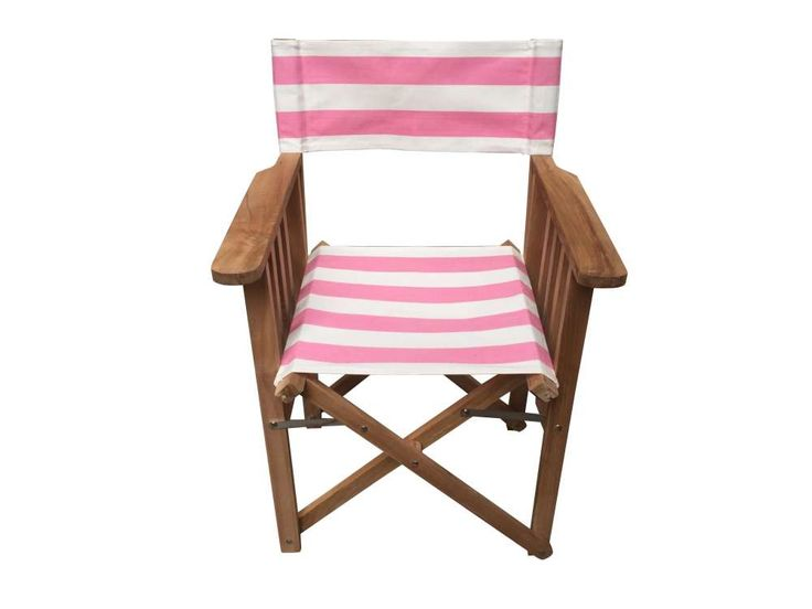 Great Pink And White Striped Directors Chairs