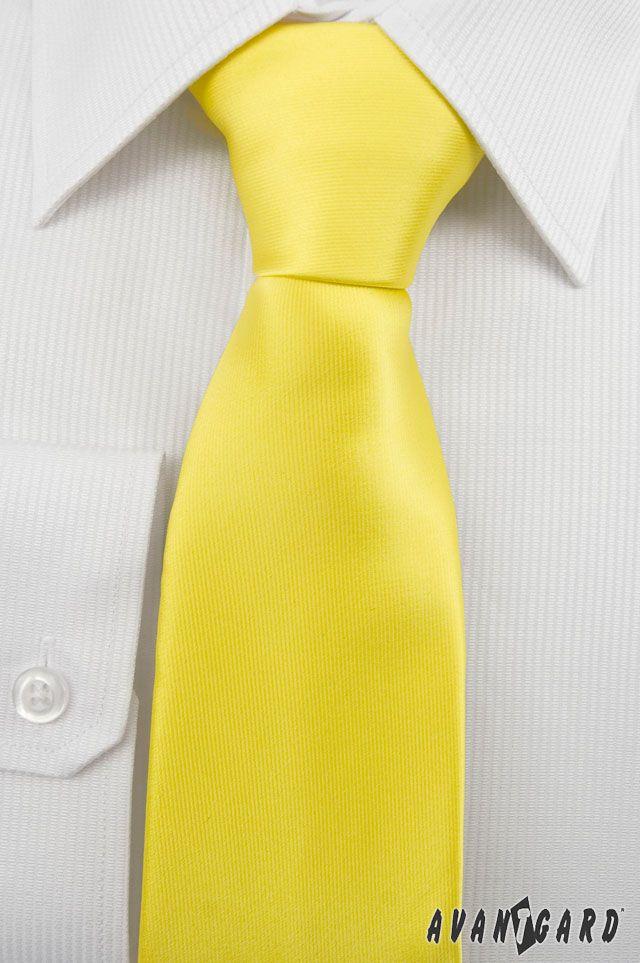 Žlutá kravata Avantgard. Duhové kravaty značky Avantgard / Rainbow inspiration, colours, Avantgard, ties, mens accessories, mens fashion, tie, yellow