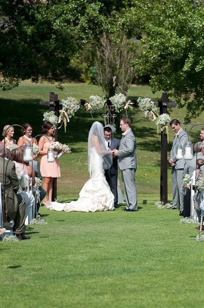 ceremony decor for an outside wedding