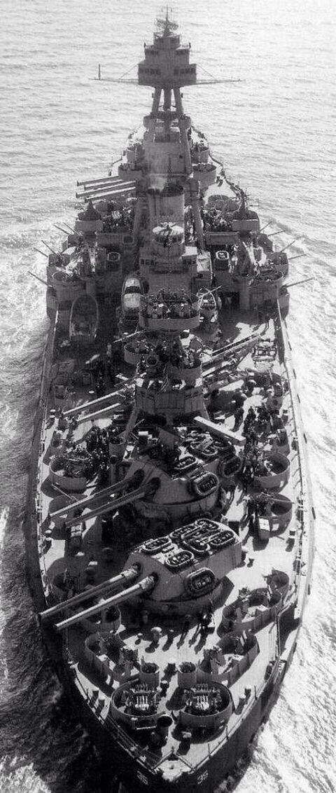 USS Texas BB-53 underway March 1943