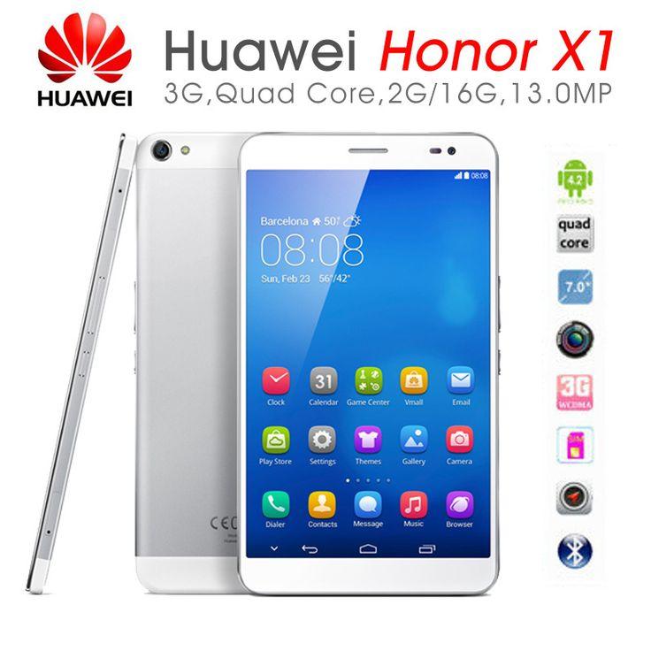 """Original Huawei MediaPad X1 7"""" 3G Quad Core Mobile Phone Tabet PC 1920*1200 2GB/16GB 13MP Camera 5000mAh Phablet Tablet PC"""