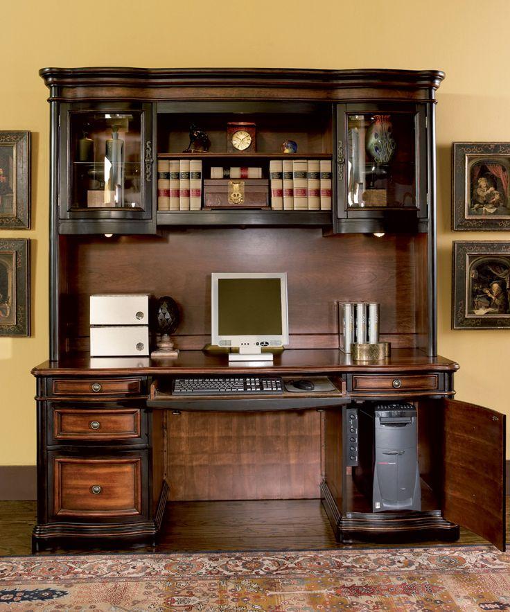 Coaster Pergola Traditional Kneehole Credenza And Hutch   Coaster Fine  Furniture