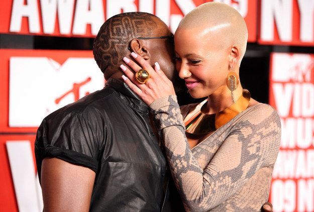Kanye and Amber Rose - great hair