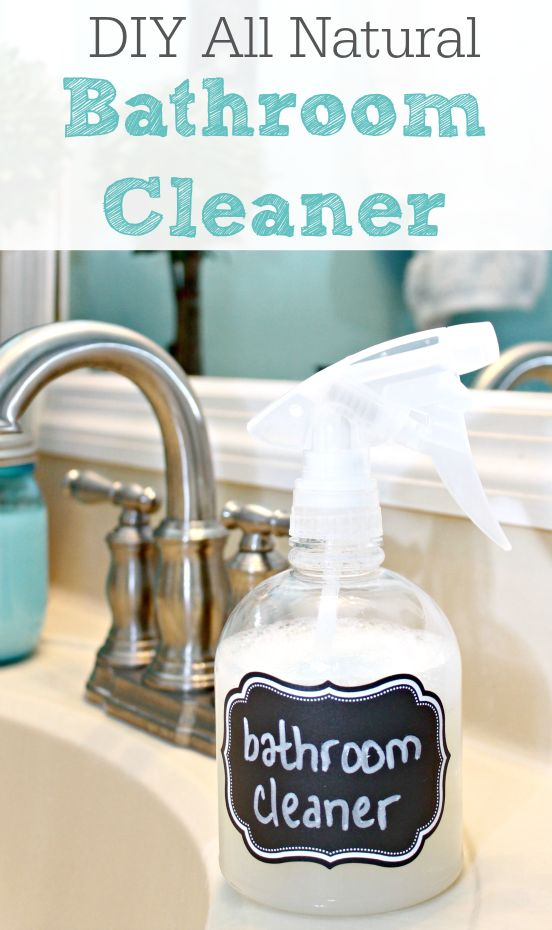 DIY All Natural Bathroom Cleaner | Remodelaholic.com