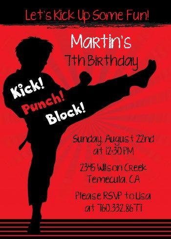 Karate - Printable Birthday Party Invitation
