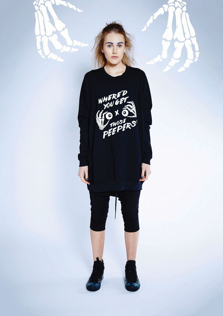 Maaike Clothing | New Zealand Focus Sweater - Black with Peepers Print, Aspect Pant