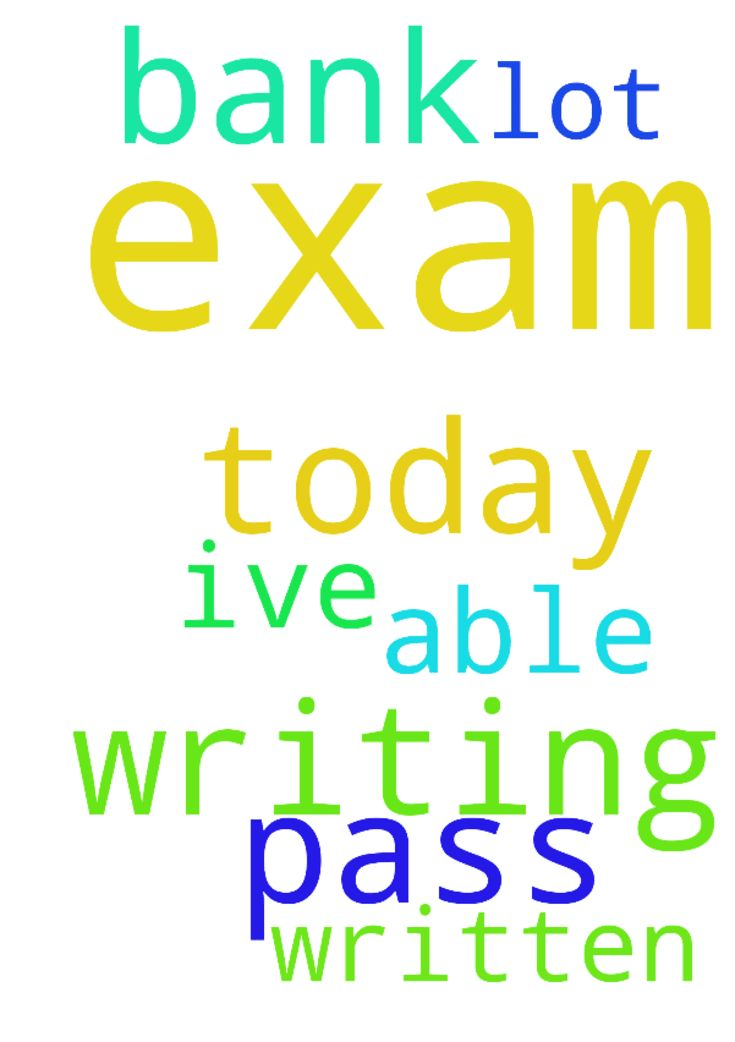 I'm writing my bank exam today at 8 - Im writing my bank exam today at 8 am I have to pass please pray for me. Ive written a lot of exams but I was not able to pass.  Posted at: https://prayerrequest.com/t/Exa #pray #prayer #request #prayerrequest