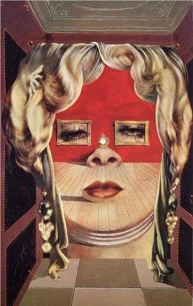 Salvador Dali.Лицо Мэй Уэст (Сюрреалистическая комната)1934-1935 г.