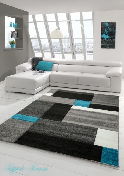 Contemporary Rug Low Pile 3D Contour Cut Tukis Grey White Black (Dream Slide) in Home, Furniture & DIY, Rugs & Carpets, Runners | eBay