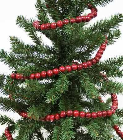 Burgundy Cranberry Color Wooden Bead 9 Foot Christmas Garland - The Look of Strung Cranberries Holiday Accents,http://www.amazon.com/dp/B00A8LTJB2/ref=cm_sw_r_pi_dp_mFsPsb1AX0TBATRD